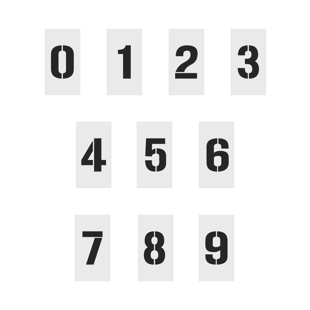 Number set stencil stencils australia for Router alphabet templates