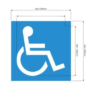 Disabled Parking Stencil