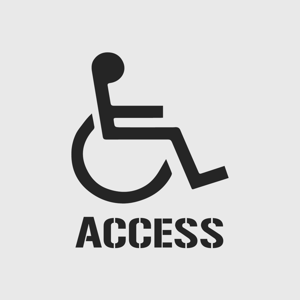 Disabled Access Stencil