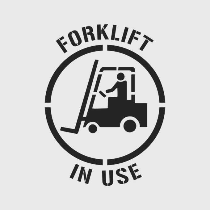 Forklift in Use Stencil