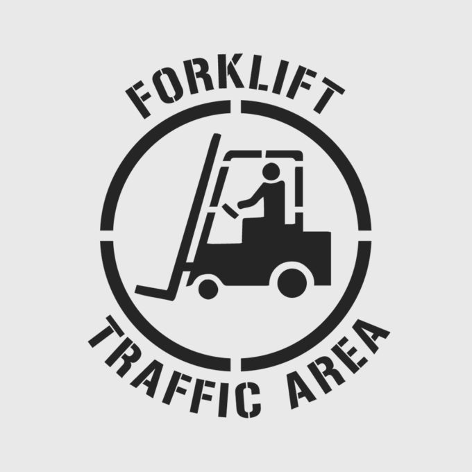 Forklift Traffic Area Stencil