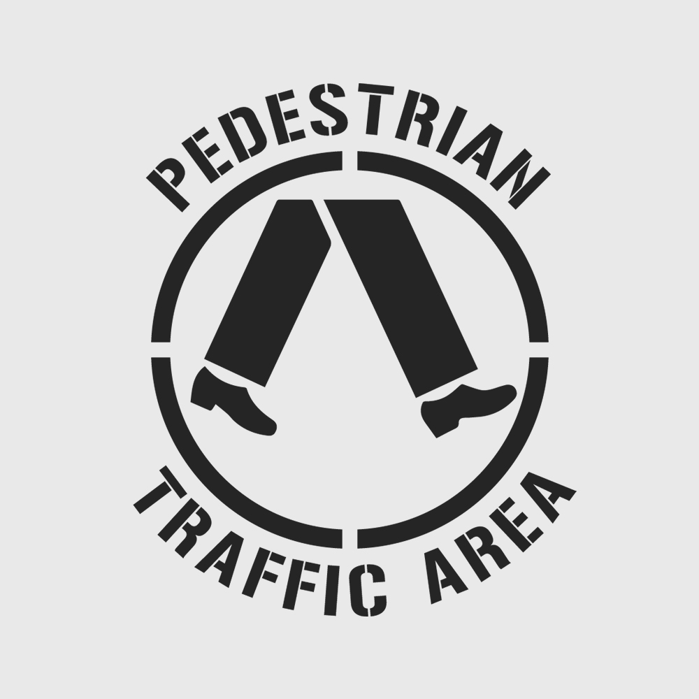 Pedestrian Traffic Area Stencil