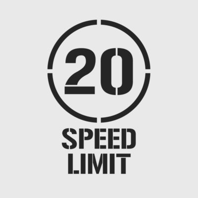 20kph Speed Limit Stencil
