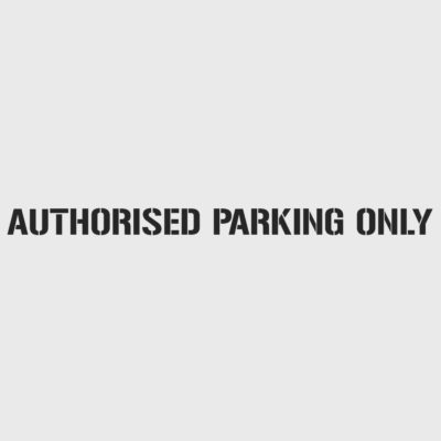 Authorised Parking Only Stencil