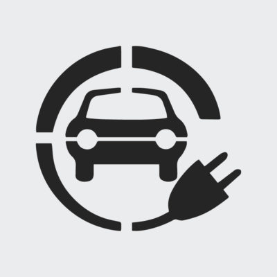 Electric Car Charging Symbol Stencil 2