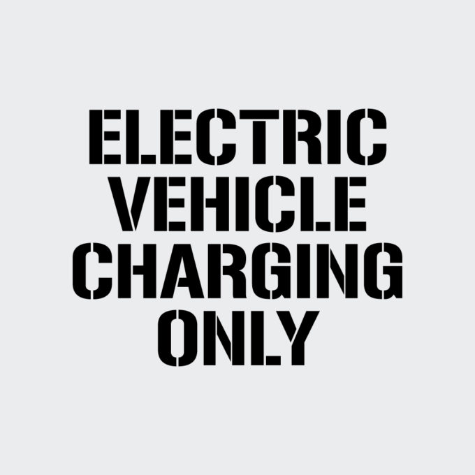 Electric Vehicle Charging Only Stencil