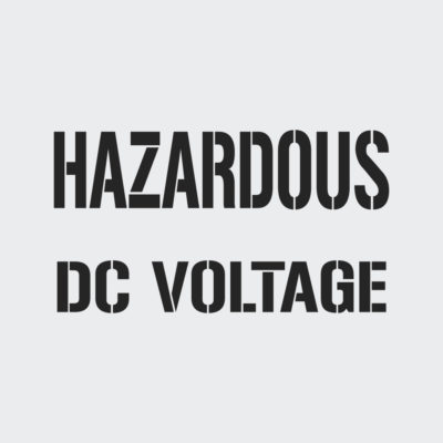Hazardous DC Voltage Stencil