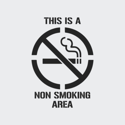 This Is A Non Smoking Area Stencil
