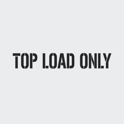 Top Load Only Stencil