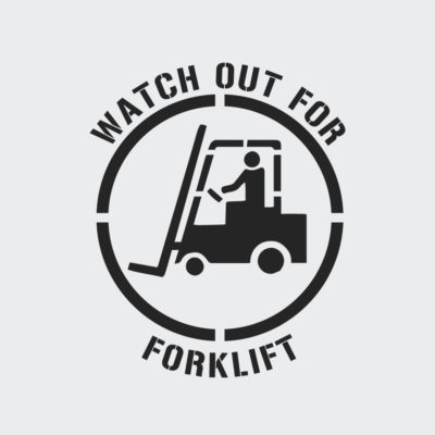 Watch Out For Forklift Stencil